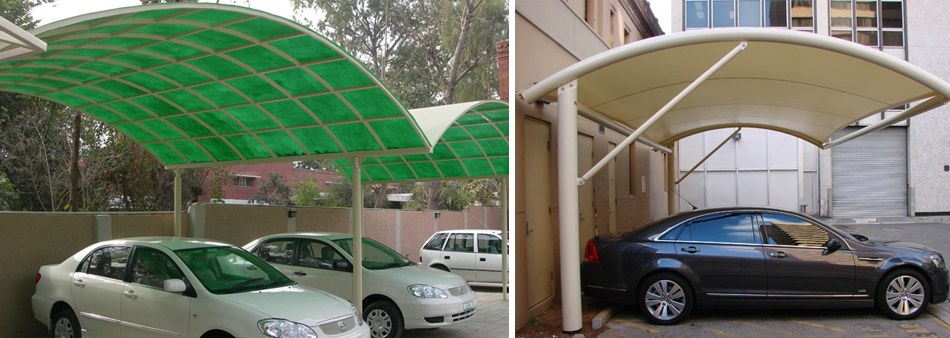 Car garage shed car parking sheds carbonate and aluminium for Car shed design